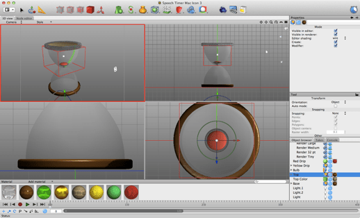Speech Timer 2 Mac Icon Construction