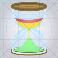 Speech timer 2 Icon rev 7 grid overlay