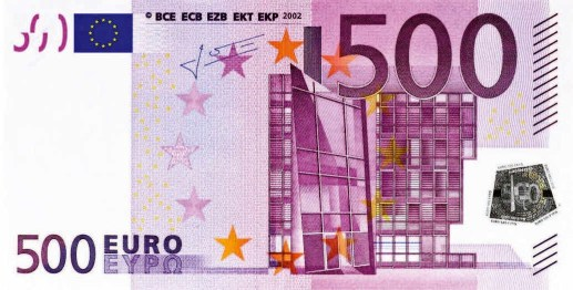 Euro 500 note