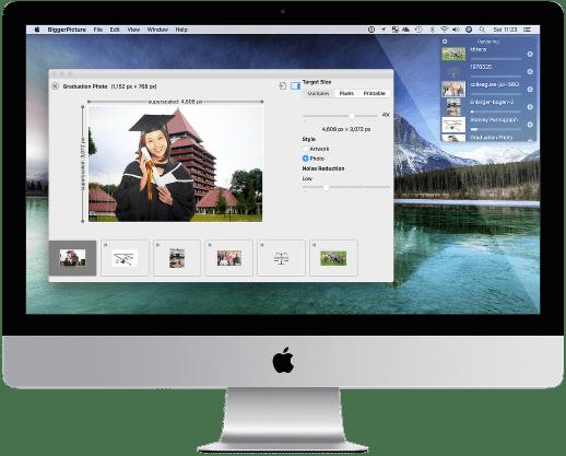 BiggerPicture app in the macOS desktop