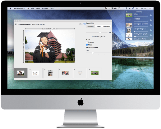 BiggerPicture app in the macOS desktop