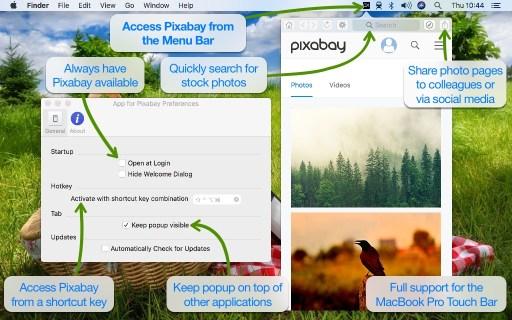 App for Pixabay Desktop Screenshot