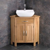 Corner Freestanding Cabinet Bathroom Vanity Unit 78cm Wide