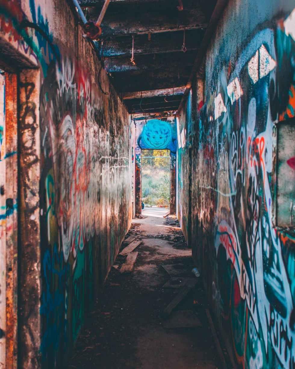 photo of graffiti wall