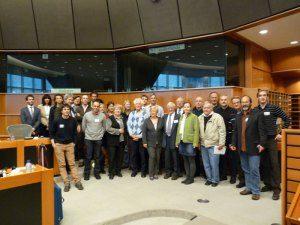 Deelnemers aan de eerste bijeenkomst in Brussel