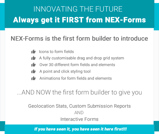 NEX-Forms - The Ultimate WordPress Form Builder 6