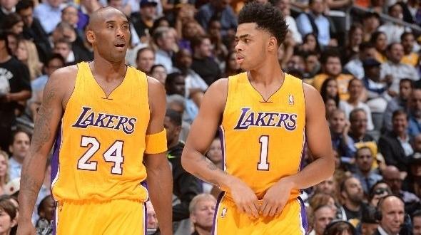 D'angelo Russell Kobe Bryant Lakers