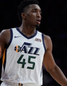 Donovan mitchell unveils signature sneaker also utah jazz news rumors roster stats awards transactions depth rh basketballalgm