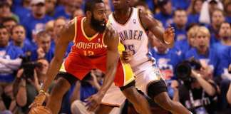 James Harden and Reggie Jackson