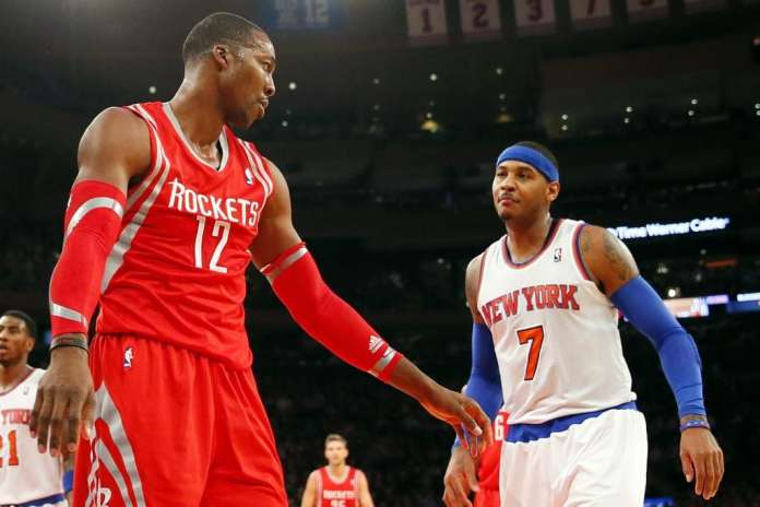 Dwight Howard and Carmelo Anthony