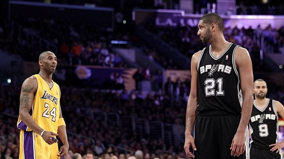 Kobe Bryant and Tim Duncan