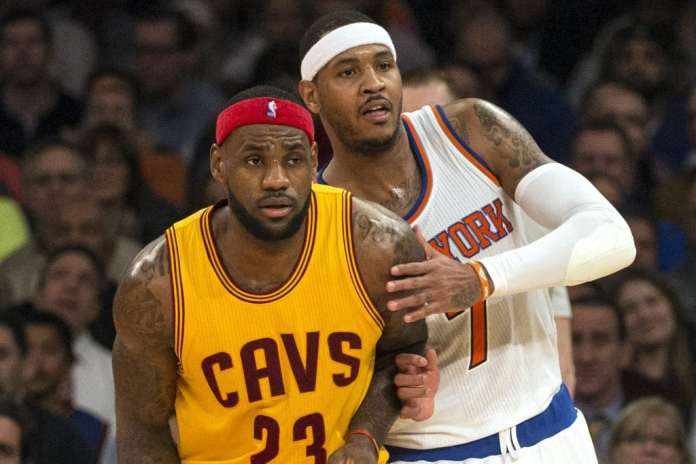 LeBron James and Carmelo Anthony