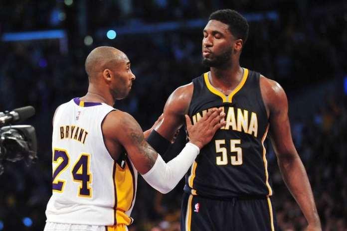 Kobe Bryant and Roy Hibbert