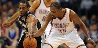 San Antonio Spurs, Oklahoma City Thunder, Kawhi Leonard, Kevin Durant