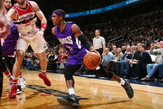 Rondo averaged a league best 11.7 assists this past season. A nice bounce back year might earn the veteran a big contract this offseason. (Photo by Ned Dishman/NBAE via Getty Images).