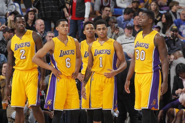 Jordan Clarkson, Los Angeles Lakers, D'Angelo Russell, Julius Randle