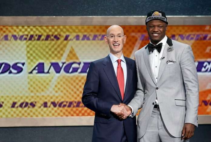 Lakers young core (AP Photo/Kathy Willens)