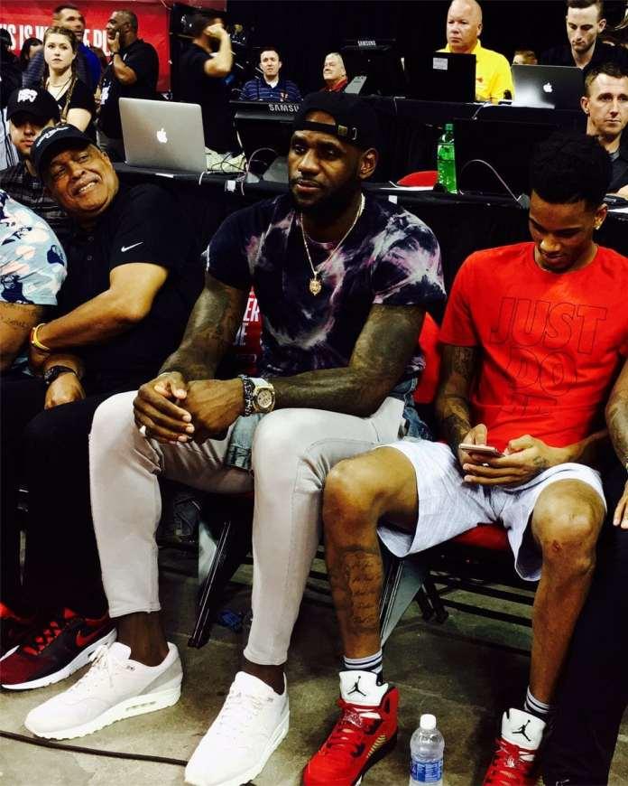 LeBron James. Via: NBATV