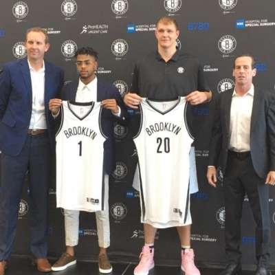 D'Angelo Russel and Timofey Mozgov
