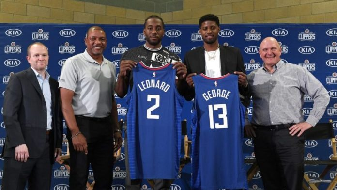 NBA Kawhi Leonard Paul George
