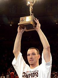 Jerry Mcnamara with 2006 Big East Tournament MVP trophy.