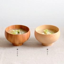 Wooden bowl keyaki buna 3780