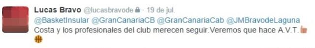 bravo de laguna ex deportes cabildo gran canaria - costa debería seguir - twitter