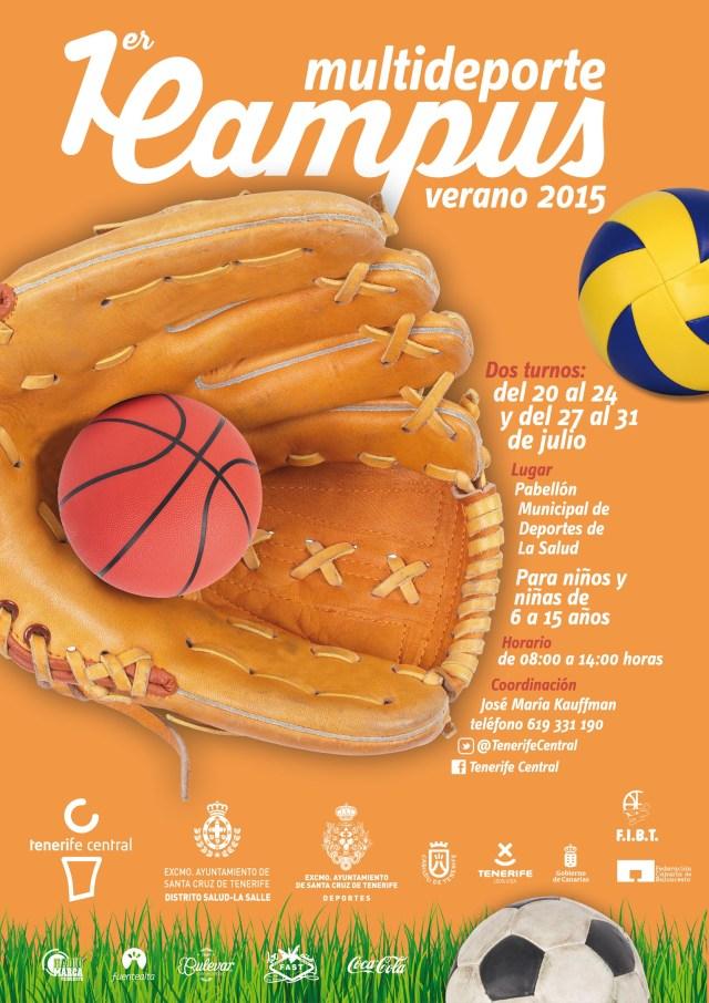 Primer Campus Multideporte Tenerife Central julio 2015