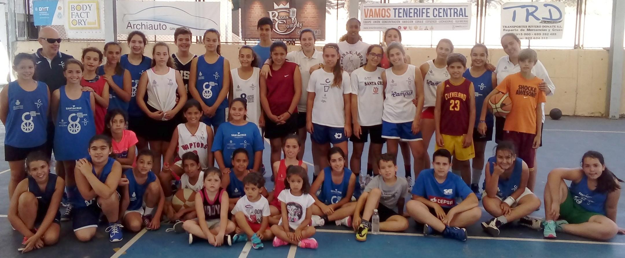 El vídeo que resume el 'I Campus de Baloncesto Tenerife Central'