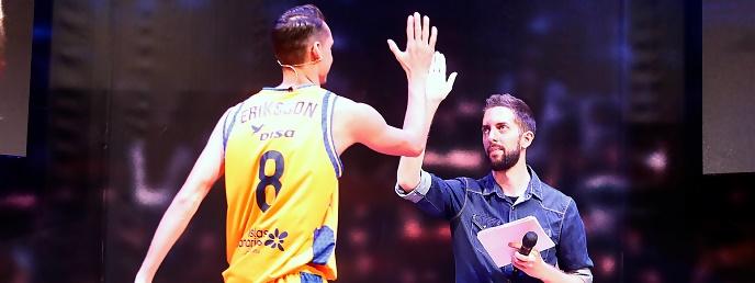 Eriksson, embajador amarillo en la ACB: «Sabemos que va a ser un año duro con la Euroliga»