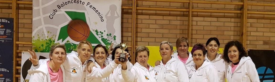 El Club Baloncesto Femenino Huesca, protagonista en la Gala Over40 Basket de Madrid