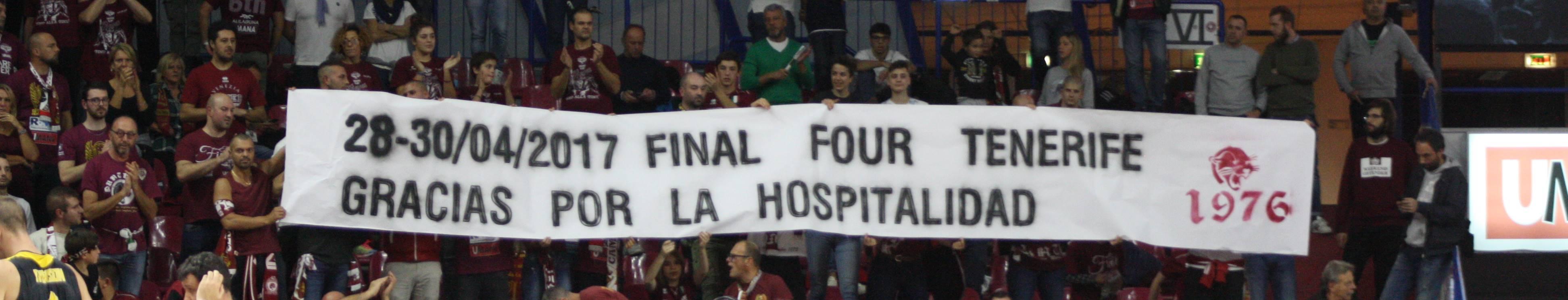 La afición del Reyer Venezia agradeció a Tenerife su hospitalidad en la 'Final Four' 2017