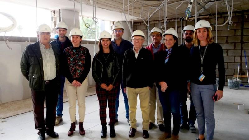 La consejera de Deportes visita las obras  de las nuevas oficinas del Cantera Base 1939 Canarias