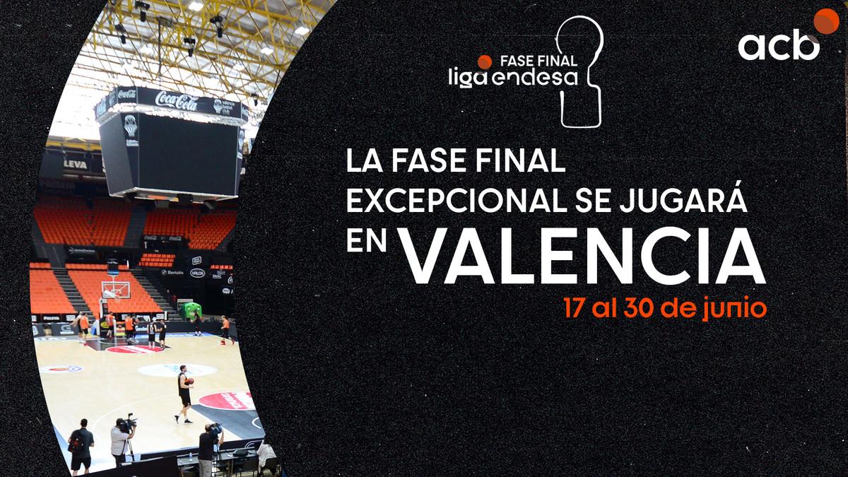 Valencia, sede de la F12 de la ACB, del 17 al 30 de junio