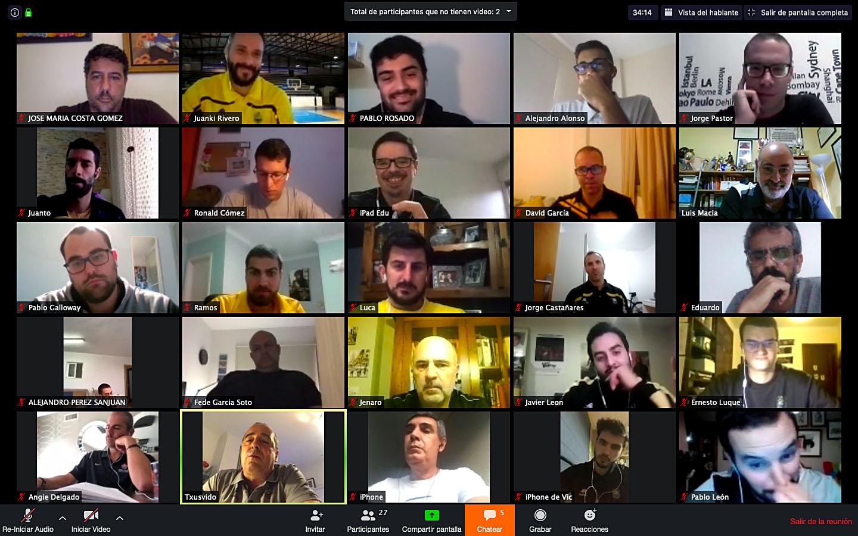 Nueva tanda de charlas 'online' para los entrenadores de formación del Cantera Base 1939 Canarias
