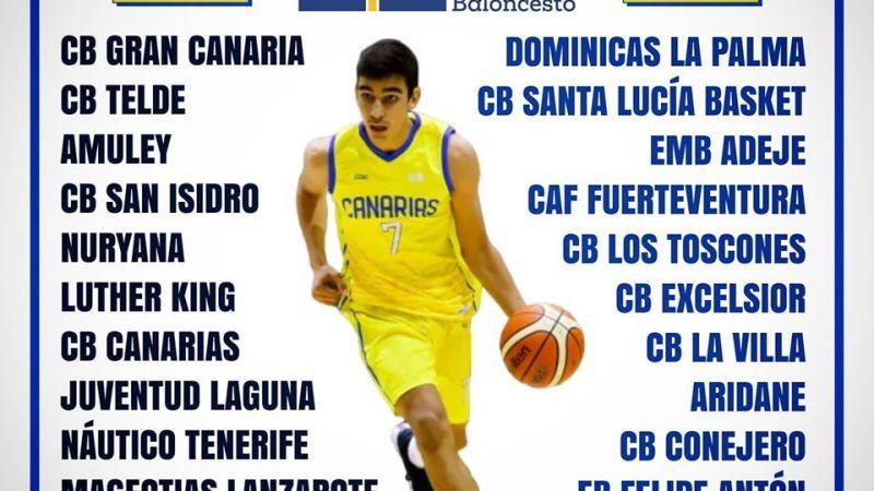 La Federación Canaria propone que la Liga Cadete Autonómica Masculina 20/21 sea de veinticuatro equipos