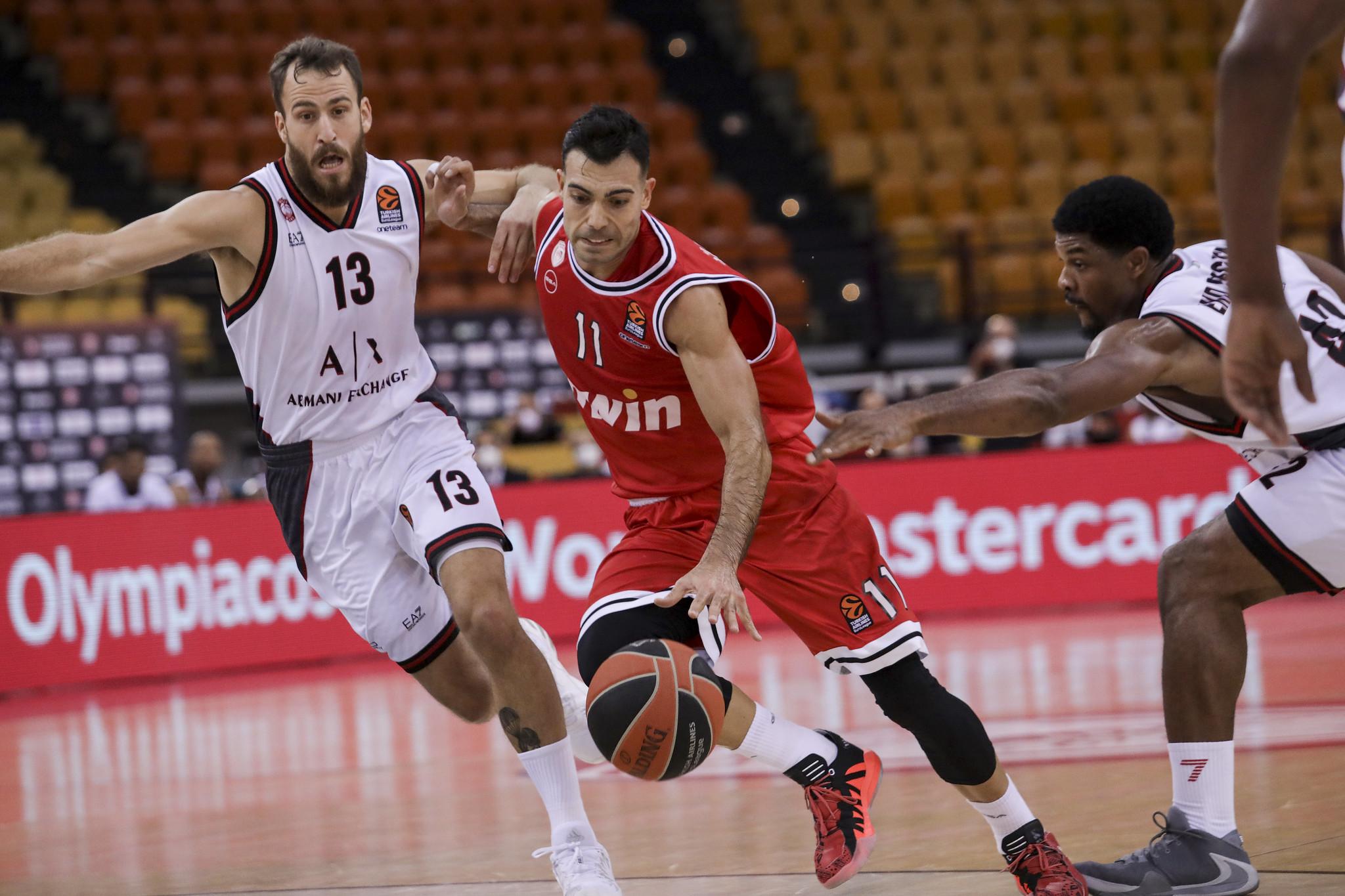 Sergio Rodríguez fue el mejor en la derrota del Olimpia Milano ante Olympiacos