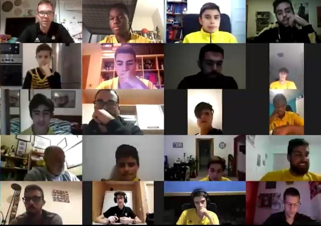 [VÍDEO] La cantera aurinegra se adapta al parón marcado por la Federación Canaria