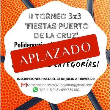 El II Torneo 3×3 'Fiestas del Puerto de La Cruz' se aplazó al 4 y 5 de septiembre
