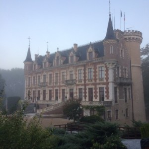 Vue sur le Château de Saint Florent sur cher pendant le run de dimanche