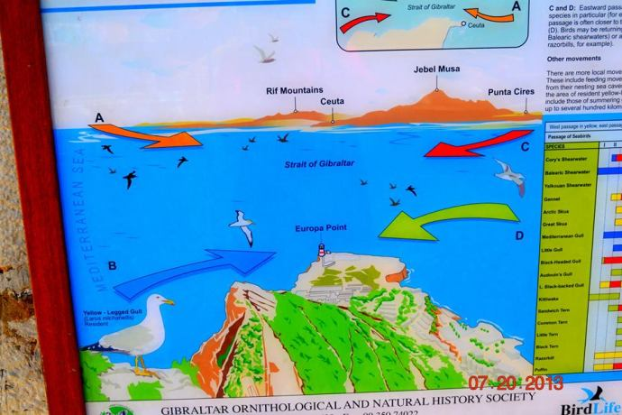 Map at Europa point