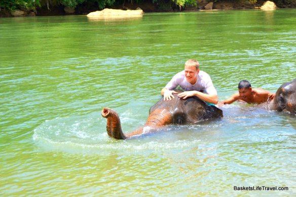 Elephant Trekking and Swimming Thailand