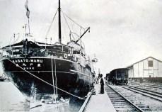 Kasato-Maru, navio que trouxe os primeiros japoneses ao Brasil (Site Imigração Japonesa)