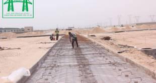 شركة انوار سورى تباشر في اعمال تسليح صب الطرق الرئيسية في مشروع طريق المطار في البصرة