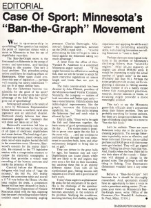 Ban the Graph Part 1. Bass Master Magazine Jul/Aug issue 1975.