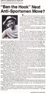 Grits Greshams rebuttal of the Ban the Graph campaign. Bass Master Magazine Jul/Aug issue 1975.