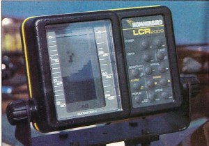 January 1985 Humminbird ad for their new LCR2000. This would become the final nail in the paper graph coffin. Yet, notice the resolution.