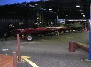 Used U.S. Boats for sale at Popeye's. The Stratos you see is Larry Nixon's boat from the 2005 season. Photo Terry Battisti 2006.