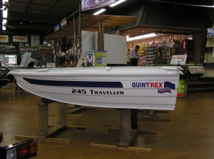 QuinTrex 245 Traveller bass boat as sold by Popeye's. Photo Terry Battisti circa 2006.