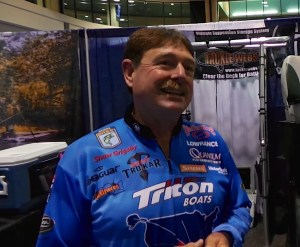 Shaw Grigsby Jr talks about how he went from racing motorcycles to tournament bass fishing at the 2014 ICAST show.
